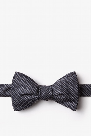 _Gilbert Charcoal Self-Tie Bow Tie_
