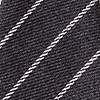 Charcoal Cotton Glenn Heights Extra Long Tie