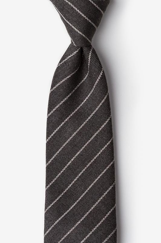 Glenn Heights Charcoal Extra Long Tie Photo (0)