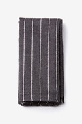 Charcoal Cotton Glenn Heights Pocket Square