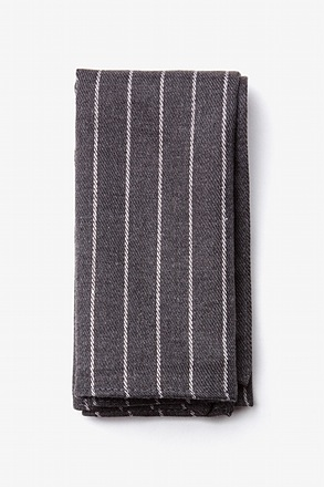 Glenn Heights Charcoal Pocket Square