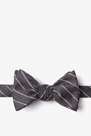 Glenn Heights Charcoal Self-Tie Bow Tie