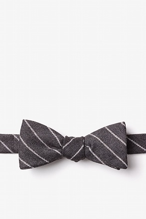 Glenn Heights Charcoal Skinny Bow Tie