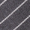 Charcoal Cotton Glenn Heights Skinny Tie