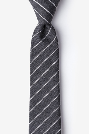_Glenn Heights Charcoal Skinny Tie_