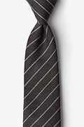 Charcoal Cotton Glenn Heights Tie