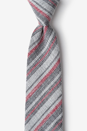Katy Charcoal Extra Long Tie