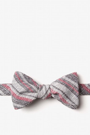 Katy Charcoal Self-Tie Bow Tie