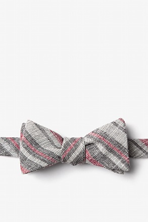 Katy Charcoal Skinny Bow Tie