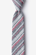 Charcoal Cotton Katy Skinny Tie