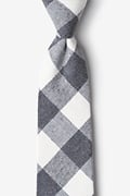 Charcoal Cotton Kent Extra Long Tie