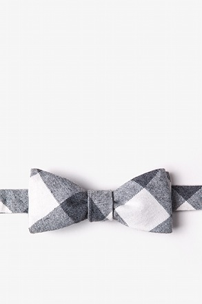 _Kent Charcoal Skinny Bow Tie_