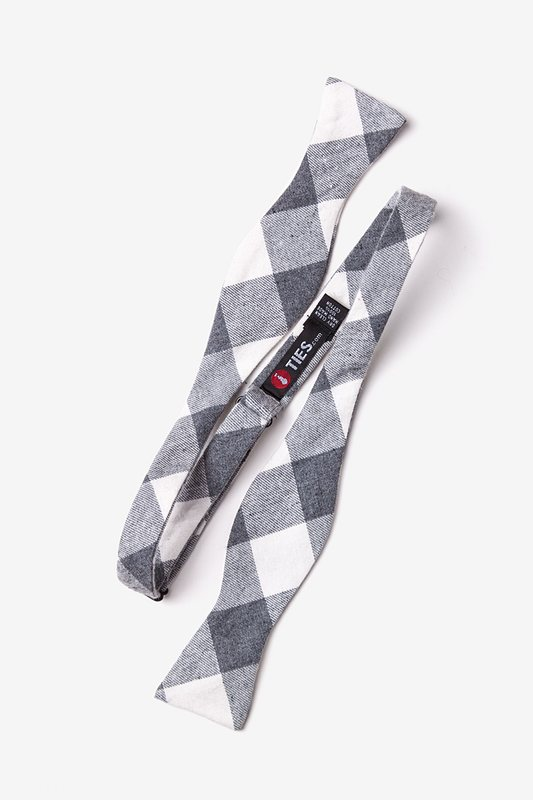 Kent Charcoal Skinny Bow Tie Photo (1)