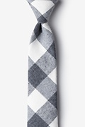 Charcoal Cotton Kent Skinny Tie