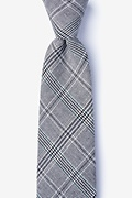 Charcoal Cotton Lima Extra Long Tie