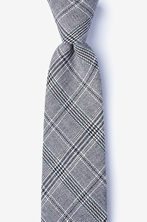 Lima Charcoal Extra Long Tie