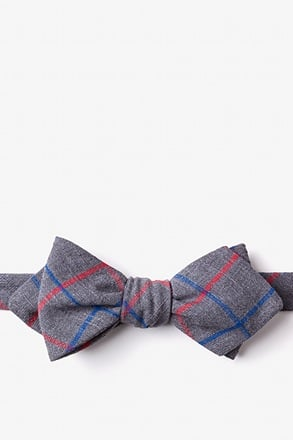 Maricopa Charcoal Diamond Tip Bow Tie
