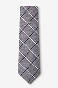 Phoenix Charcoal Extra Long Tie Photo (1)