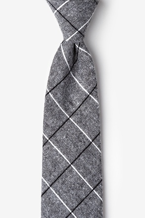 Phoenix Charcoal Extra Long Tie
