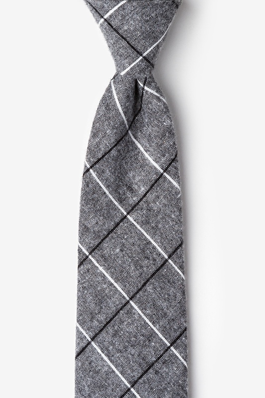 Phoenix Charcoal Extra Long Tie Photo (0)