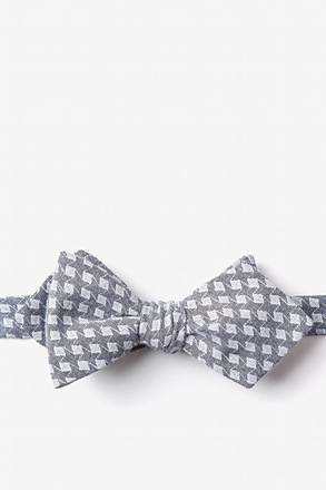 Poway Charcoal Diamond Tip Bow Tie