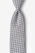 Charcoal Cotton Poway Extra Long Tie