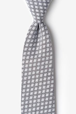 Poway Charcoal Extra Long Tie
