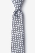 Poway Charcoal Skinny Tie Photo (0)