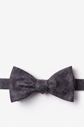 Prescott Charcoal Self-Tie Bow Tie