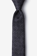 Charcoal Cotton Prescott Skinny Tie