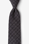 Charcoal Cotton San Luis Extra Long Tie