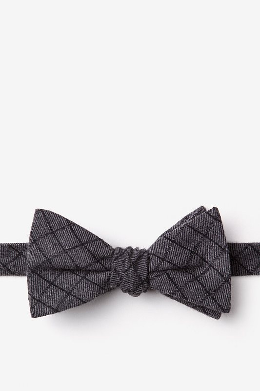 San Luis Charcoal Self-Tie Bow Tie Photo (0)