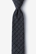 Charcoal Cotton San Luis Skinny Tie