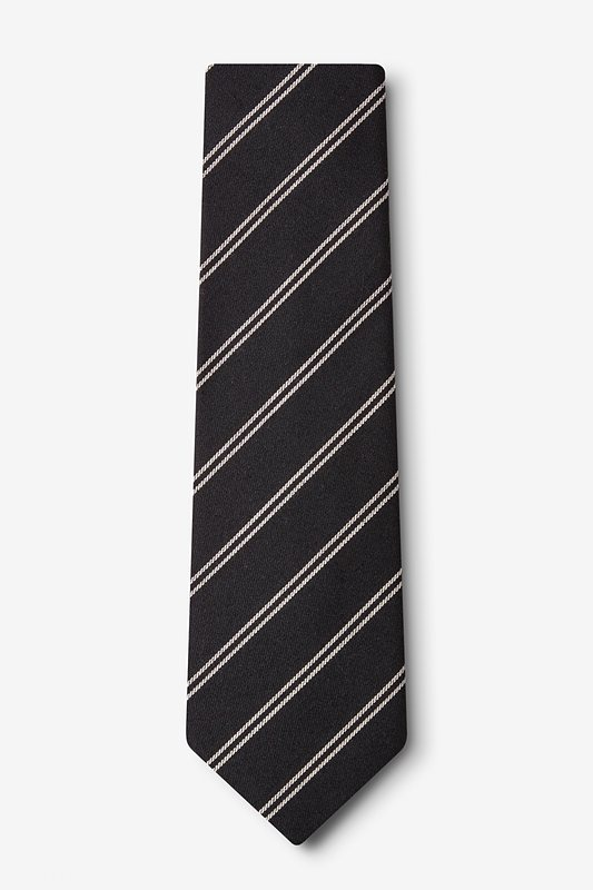 Seagoville Charcoal Extra Long Tie Photo (1)