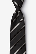 Charcoal Cotton Seagoville Extra Long Tie