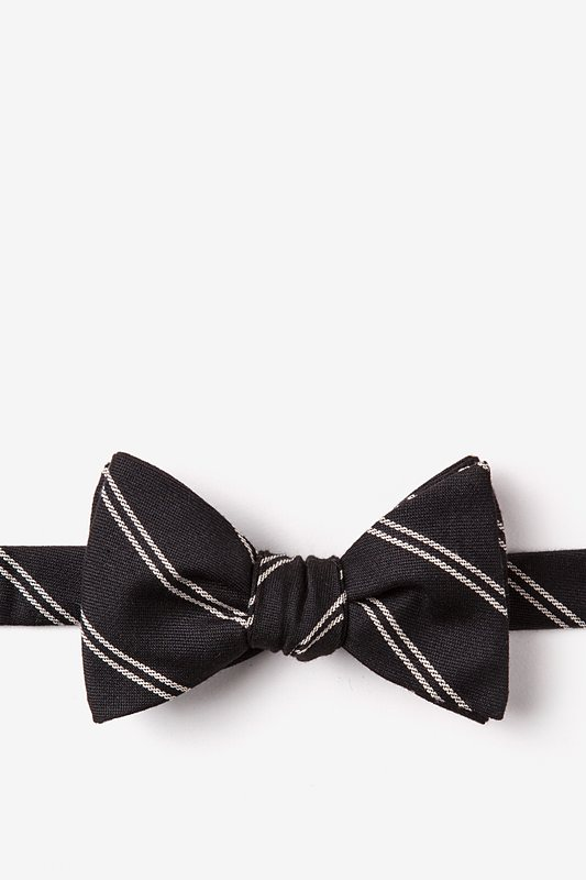 Seagoville Charcoal Self-Tie Bow Tie Photo (0)