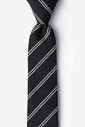 Charcoal Cotton Seagoville Skinny Tie
