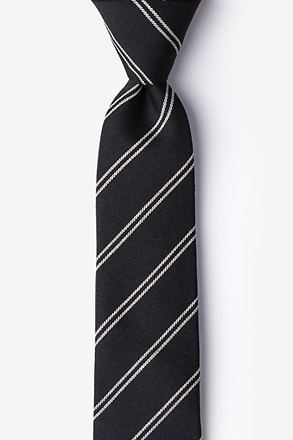 _Seagoville Charcoal Skinny Tie_