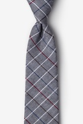 Charcoal Cotton Seattle Extra Long Tie