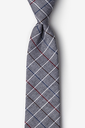 Seattle Charcoal Extra Long Tie