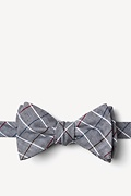 Charcoal Cotton Seattle Self-Tie Bow Tie