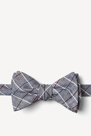 Seattle Charcoal Self-Tie Bow Tie