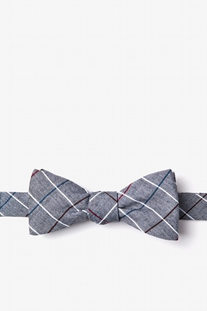Seattle Charcoal Skinny Bow Tie