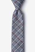 Charcoal Cotton Seattle Skinny Tie