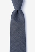 Charcoal Cotton Teague Extra Long Tie