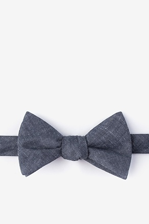 _Teague Charcoal Self-Tie Bow Tie_