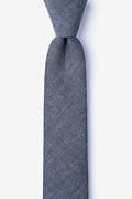 Charcoal Cotton Teague Skinny Tie