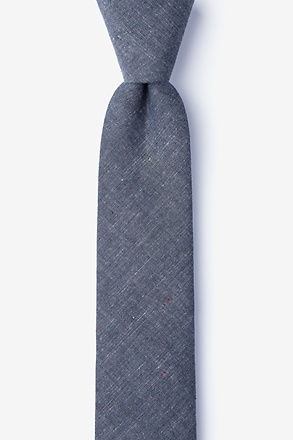 _Teague Charcoal Skinny Tie_