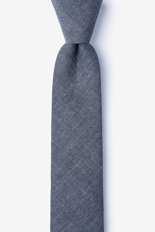 Teague Charcoal Skinny Tie Photo (0)