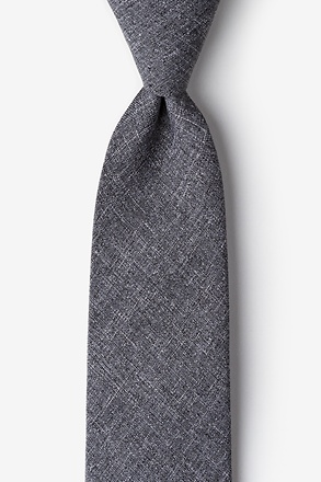 Tioga Charcoal Extra Long Tie